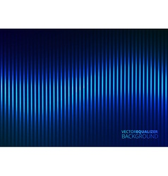 A blue music equalizer vector