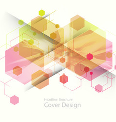 abstract hexagon background technology vector image vector image
