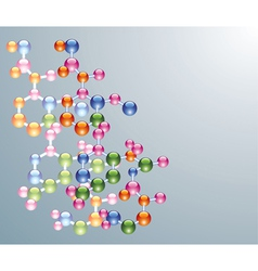 abstract molecule background vector image vector image