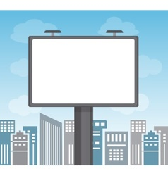advertising in a big city vector image