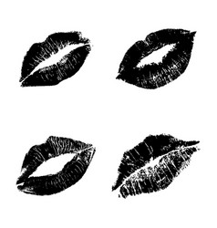Black lips silhouettes vector