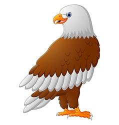 Cartoon eagle posing vector