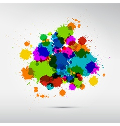 Colorful Stains Blots Splashes Background vector image