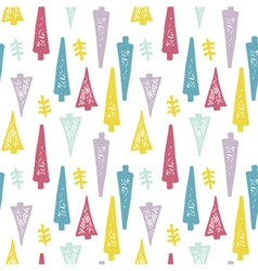 Design seamless pattern trees vector image