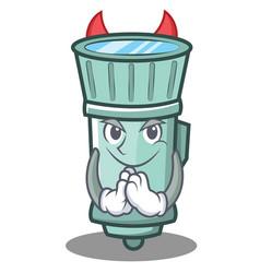 Devil flashlight cartoon character style vector