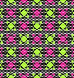 Dot textured pattern with pink and bright green vector