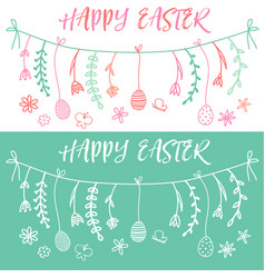 Easter banner set vector