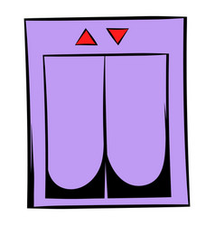 elevator icon cartoon vector image