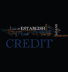 Establish good credit text background word cloud vector