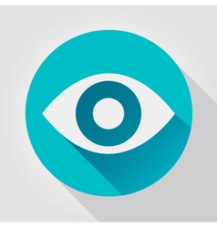 Eye icon flat design vector image vector image