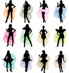 female icons vector image vector image