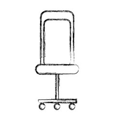 Isolated desk chair vector