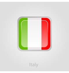 Italy flag button vector image