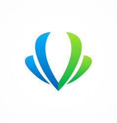 Letter v beauty company logo vector
