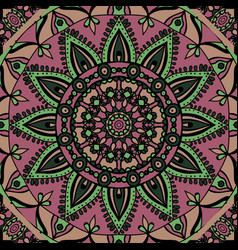 Mandala colorful ethnic round ornament vector