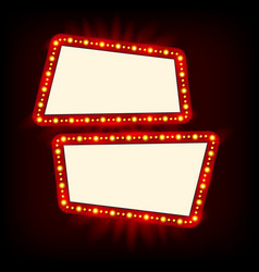 neon lamps billboard cinema and theater signage vector image vector image