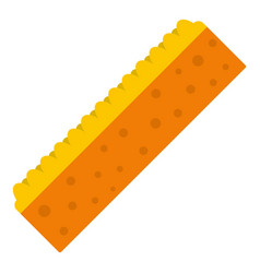 orange sponge for cleaning icon isolated vector image