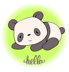 panda-01 vector image vector image