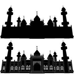 Silhouette of Jamiah Mosque Pattani vector image vector image