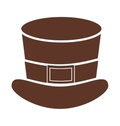 Silhouette with leprechaun hat in color brown vector