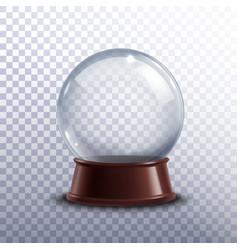 Snow globe transparent vector