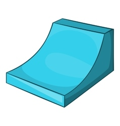 Snow half pipe for freestyle icon cartoon style vector