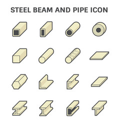 Steel beam pipe vector