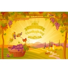 Thanksgiving beautiful autumn vector