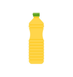 vegetable cooking oil in plastic bottle icon vector image vector image