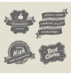 Vintage hand drawn label on textured paper vector