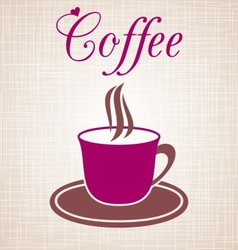Wine-coloured cup of coffee vector