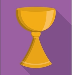 Gold cup religion icon graphic vector