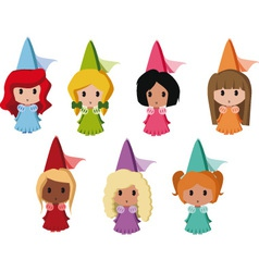 Princesses vector image