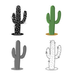 cactus icon cartoon singe western icon from the vector image