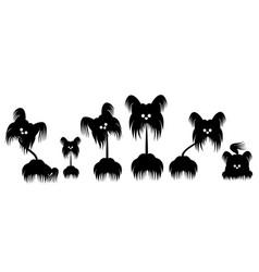 Set of animals dog terrier vector