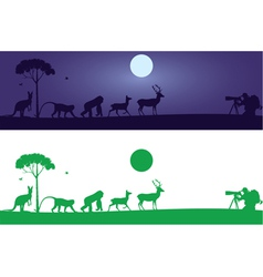 Animals wall decal vector