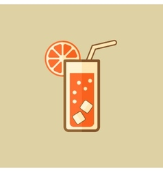 Cocktail drink flat icon vector