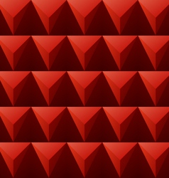 Red regular triangular background vector