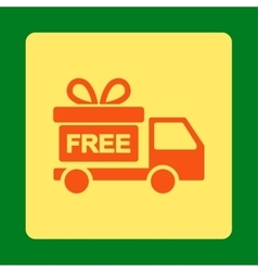 Gift delivery icon vector