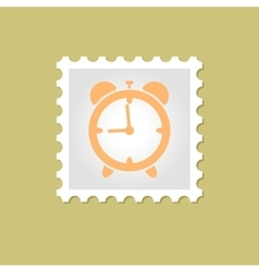 Alarm clock stamp vector