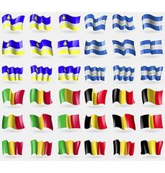 Buryatia nicaragua mali belgium set of 36 flags of vector