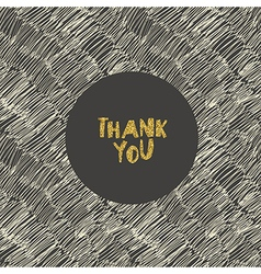 Hand drawn Thank You card Gold foil letters effect vector image