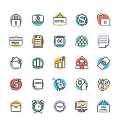 Business cool icons 5 vector