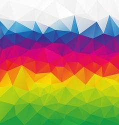 horizontal rainbow full color spectrum polygon vector image