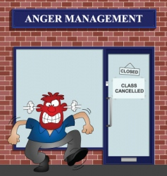 anger vector image vector image