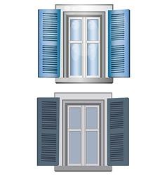 Blue gray classic window pane architect model vector