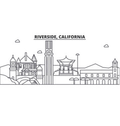 california riverside architecture line skyline vector image