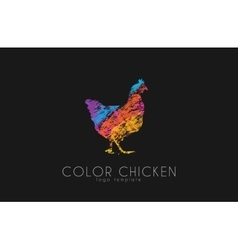 Chicken logo Color chicken Creative logo vector image