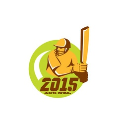 Cricket 2015 australia new zealand circle vector