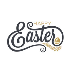 easter vintage lettering on white background vector image
